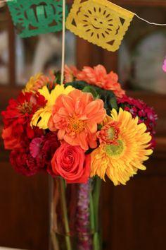 Fiesta Themed Flower Arrangements.