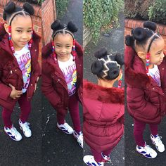 Lil Girl Hairstyles, Natural Hairstyles For Kids, Kids Braided Hairstyles, Princess Hairstyles, Natural Hair Styles, Little Girl Braids, Black Girl Braids, Braids For Kids, Girls Braids