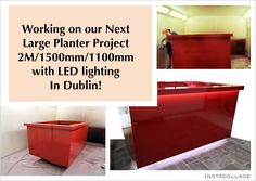 Dublin Project - Europlanters manufacture 2000mm /1500mm / 1100mm high planters with LED lighting top and bottom.