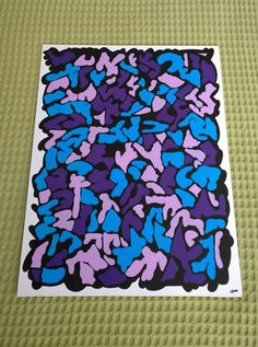 Original Acrylic Paint Pen Abstract Art by ScubaTurkey on Etsy