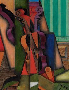 Juan Gris, Violín y guitarra, 1913. Óleo sobre lienzo, canvas, 100.3 x 65.4 cm. Colección particular