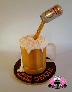 Gravity-defying Beer Mug Cake - Cake by Cakes ROCK!!!