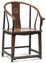 Bonhams : A huanghuali armchair