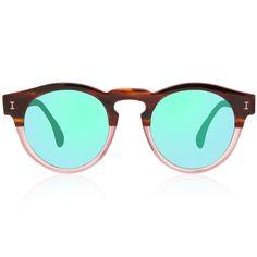 Illesteva Leonard half/half with green mirrors S/S 2014 Ready to Wear