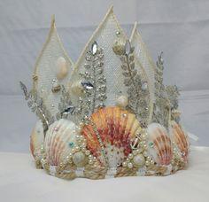 Mermaids crown fantasy crown shell headdress shell by BolshieAlice