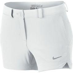 White Nike Junior Girls Golf Short at #lorisgolfshoppe