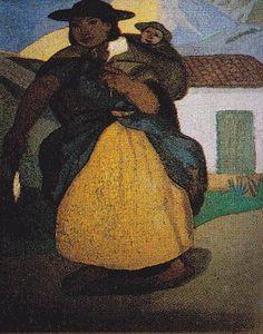 Indigenismo - José Sabogal - Hilandera
