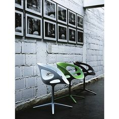Something like this for boys rooms...RIN Swivel Chair by Fritz Hansen