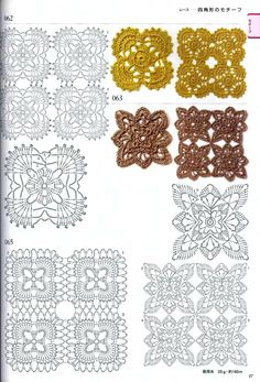 Hooked on crochet crochet motifs and top quadradinhos e blusa de