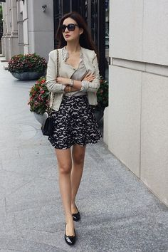 Get this look: http://lb.nu/look/6774342  More looks by Jennifer Wei: http://lb.nu/chienyu520jen  Items in this look:  Club Monaco Skirt, Sammy Dress Shoes