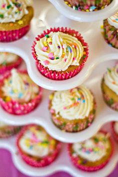 Yummy! Strawberry Cupcakes with White Chocolate Frosting