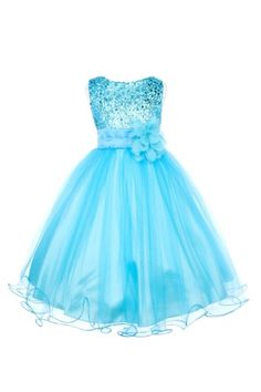 Absolutely Beautiful Sequined Bodice with Double Tulle Skirt Party flower Girl Dress-KD305-Turquoise-4 Kids Dream http://www.amazon.com/dp/B00KC9GXGO/ref=cm_sw_r_pi_dp_x7jLtb1G377WPH5T