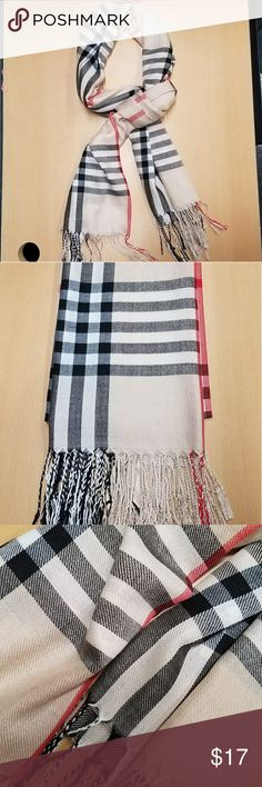 Plaid Pattern Scarf Gently used long scarf, may also be used as a shawl. Accessories Gloves & Mittens
