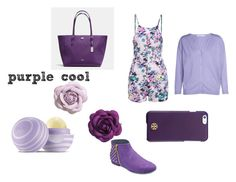 """""""purple cool"""" by emma-victoria-e on Polyvore featuring Xandres xline, Coach, Tory Burch, H&M and Eos"""