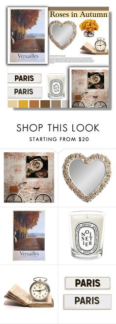"""""""Untitled #302"""" by farmgirl2015 ❤ liked on Polyvore featuring interior, interiors, interior design, home, home decor, interior decorating, Gallery, Diptyque, Rosanna and The French Bee"""