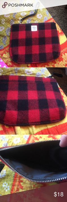 Woolrich with Abercrombie & Fitch clutch New last year never used. Cute buffalo plaid wool clutch Abercrombie & Fitch Bags Clutches & Wristlets