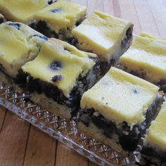 A blueberry coffeecake with a ricotta cheese topping. Reminiscent of cheesecake, this recipe was in my maternal grandmother's collection. Cake Mix Recipes, Dessert Recipes, Fruit Recipes, Blueberry Recipes, Pudding, Coffee Cake, Food To Make, Delicious Desserts, Sweets