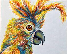 Colourful Cocky Original Artwork, Original Paintings, Picture Wire, Australian Birds, Using Acrylic Paint, Image Shows, Make You Smile, Color, Colour