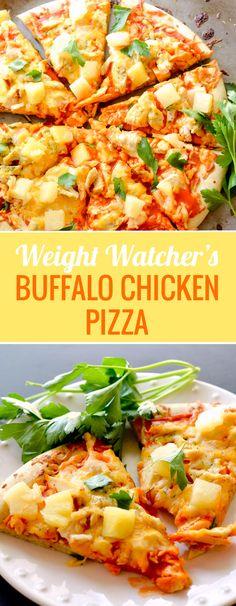 Buffalo Chicken Pizza - 5 WWP+ per serving - Recipe Diaries