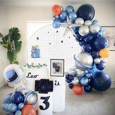 Toddler Birthday Themes, Rocket Birthday Parties, 2nd Birthday Party For Boys, Party Themes For Boys, Space Party, Diy Party Decorations, Birthday Balloons, First Birthdays, Baby Shower