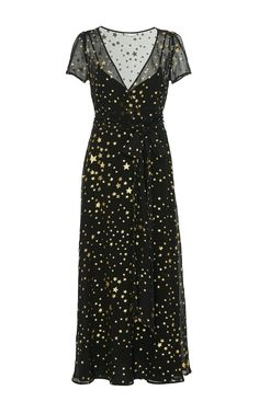 Star Print Silk Georgette Maxi Dress by RED VALENTINO Now Available on Moda Operandi