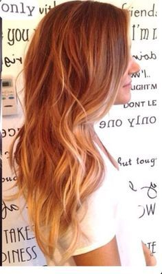 Red brown with copper blonde highlights
