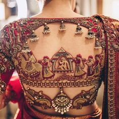 South Indian Blouse Designs for a Royal Bridal Look Wedding Saree Blouse Designs, Silk Saree Blouse Designs, Fancy Blouse Designs, Patiala Salwar, Anarkali, Lehenga, Sarees, Lehnga Dress, Hand Work Blouse Design