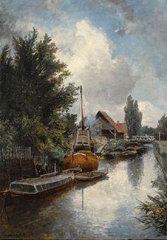 Johan Barthold Jongkind - Chantier naval au bord de la Schie près de Delft (1855)
