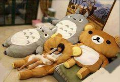 Large Rilakkuma & Totoro Lounge Cushions