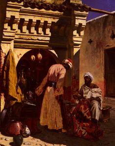 Rudolf Ernst Paintings-The Rug Merchant