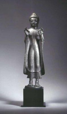 Standing Buddha Statue, Buddha Statues, Thailand Art, Thailand Photos, Art Thai, 12th Century, Buddhism, Sculptures, Antiques