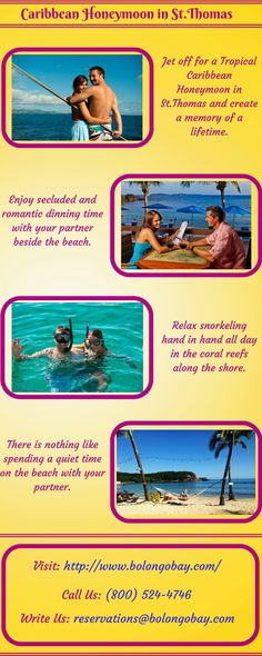Jet off to St.Thomas with an all inclusive honeymoon package and make your special moments romantic.