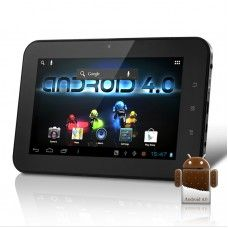 """Android 4.0 Tablet PC """"Xinc"""" - 7 Inch Capacitive Touch Screen, 1.2Ghz CPU, 4GB (Black)"""