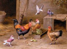 deizi-13: Эдгар Хант (Edgar Hunt)(1876—1955) - британский художник-анималист, представитель классицизма.