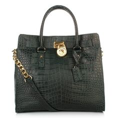Trendy? Think Hunter-Green!    Michael Kors Hamilton Tote Bag Hunter Green — Fashionette