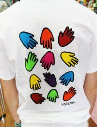 The VERY FIRST T-Shirt we ever hand-painted is back! We're celebrating our 20 years as a downtown Philadelphia merchant by bringing back the original Kademi Hands tee!