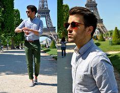 Marc Galobardes - Asos Shirt, Zara Trousers, H&M Espadrillas - CHAMPS DE MARS #PARIS