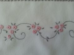 Wonderful Ribbon Embroidery Flowers by Hand Ideas. Enchanting Ribbon Embroidery Flowers by Hand Ideas. Handkerchief Embroidery, Hand Embroidery Videos, Baby Embroidery, Embroidery Flowers Pattern, Simple Embroidery, Hand Embroidery Stitches, Silk Ribbon Embroidery, Hand Embroidery Designs, Vintage Embroidery