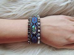 Tribal bracelet hippie jewelry boho gypsy by JewelryLanChe on Etsy #hippie #cuff #aztec #tribal #bracelet