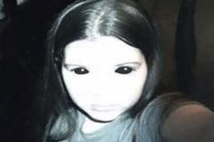 """In the ghost has been seen by a mother and daughter while walking through woods at Cannock Chase. The account given to Lee Brickley was very similar to previous reports of the """"Black Eyed Child—who has coal-black pits for eye sockets. Real Ghost Photos, Ghost Pictures, Dark Pictures, Scary Ghost Stories, Creepy Ghost, Black Eyed Kids, Alien Encounters, Black Pit, Real Ghosts"""