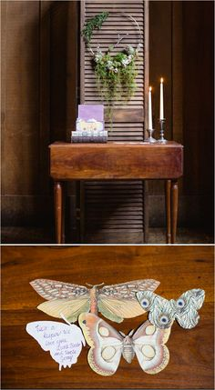 escort card and escort card table ideas #escortcards #weddingdecor #weddingchicks http://www.weddingchicks.com/2014/04/14/mystic-masterpiece-wedding-inspiration/