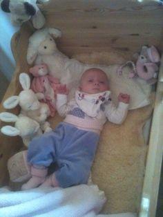 Her var Emilie 4 månder gamle. :)
