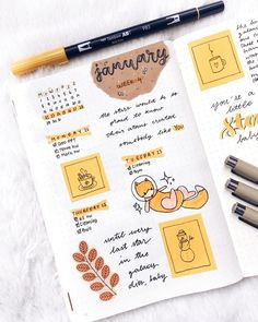 This is such an amazing idea for the bullet journal! Every year I get more organized and I love it! Can't wait to try this idea in my own planner! Top 11 Orange Bullet Journals this week! Bullet Journal Planner, Bullet Journal Aesthetic, Bullet Journal Notebook, Bullet Journal Ideas Pages, Bullet Journal Spread, Bullet Journal Layout, My Journal, Bullet Journal Inspiration, Journal Pages