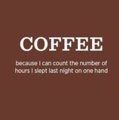 Less Sleep = More Coffee (It's simple arithmetic! ; )