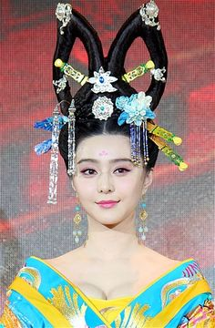 Image: Actress Fan Bingbing attends a press conference for the television drama series ''Empress Wu Zetian'' at Juna Hotel in Wuxi, China. (...