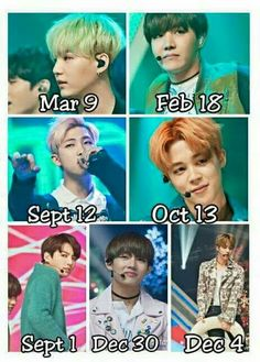 BTS birthdays