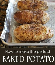 How to Make the Perfect Baked Potato . the 20 Best Ideas for How to Make the Perfect Baked Potato . How to Make the Perfect Baked Potato Potato Side Dishes, Vegetable Side Dishes, Main Dishes, Side Dish Recipes, Vegetable Recipes, Dinner Recipes, I Love Food, Good Food, Yummy Food