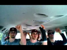 Harvard Baseball 2012 Call Me Maybe Cover--  For all the baseball moms out there, can't you just see your own boys doing this?  Good to know their well-occupied on those road trips!  Too cute.