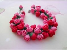 "CrazyKet:Малиновый браслет ""Fresh raspberries"" ❤️ Полимерная глина/Polymer Clay ❤️ Мастер-класс/DIY - YouTube"