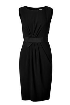 Paule Ka Black Gathered Shift Dress - would love to wear something like this to my sister in law's wedding this summer